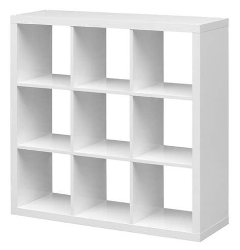 caissons cuisine etagère 9 cubes emilie blanc