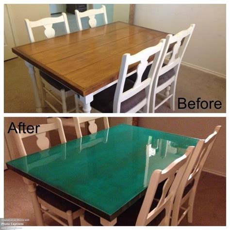 epoxy resin desk google search dining table makeover