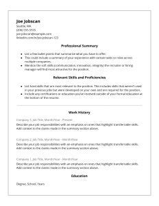 Alternate Resume Formats by Why Recruiters The Functional Resume Format Jobscan