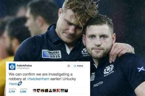 cops show sense  humour  scotland rugby defeat