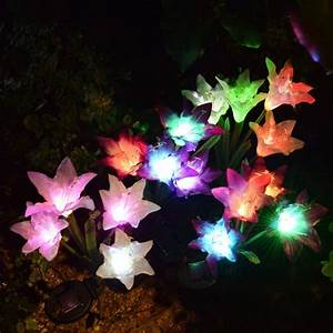 Led Light Up Garden Flowers