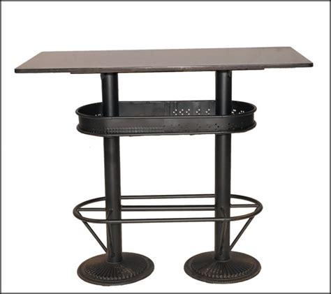 table cuisine industrielle table haute industrielle mange debout loft pas chere et