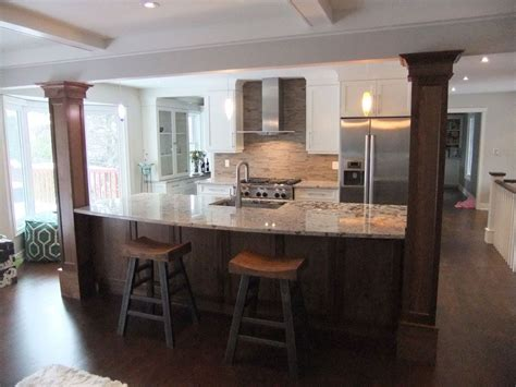 kitchen islands with columns kitchen island columns interior design
