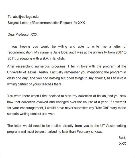 asking for a letter of recommendation template 38 sle letters of recommendation for graduate school sle templates