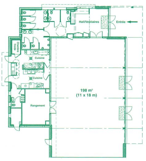 plan de chambre froide salle n 1 espace de grippé route de la valette ville