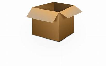 Box Open Clipart Cardboard Clip Boxes Vector