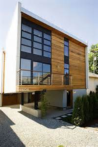 Harmonious Home Facade Designs by Wood Paneling Facades Texture And Ready To Be