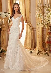 elegantly embroidered lace on tulle wedding dress style With wedding dresses with gold detail