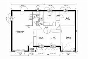 Plan Maison U : plan maison milonga en u mod le et plan de maison ~ Dallasstarsshop.com Idées de Décoration