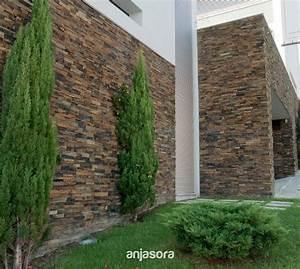 Fachadas revestidas de piedra efecto ladrillo