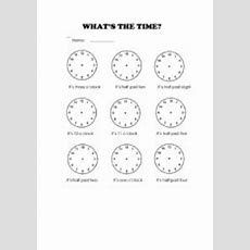 Time Worksheet New 641 Time Worksheet O'clock And Half Past