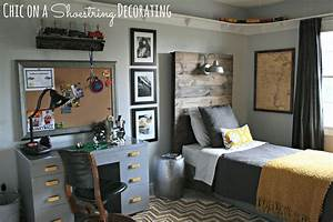 Chic on a shoestring decorating bigger boy room reveal for Decorate boy room