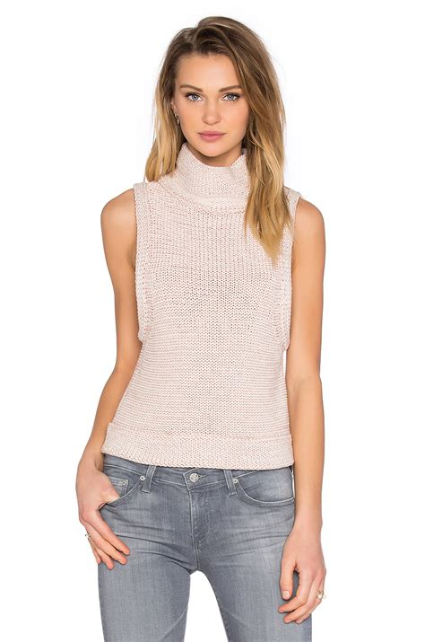 sleeveless turtleneck sweater kathryn mccarron tilda sleeveless turtleneck sweater in