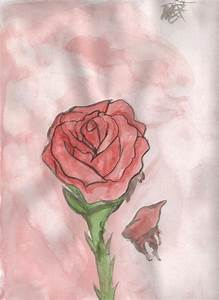 The bleeding rose by erinrocks122 on deviantART