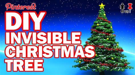 187 diy invisible christmas tree man vs pin 103