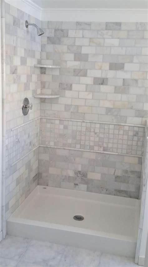 bath shower pan  tile wall surround bathroom
