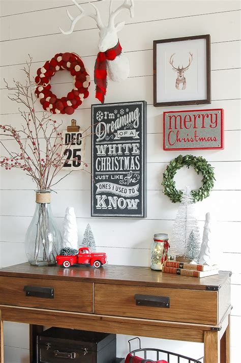 christmas entryway gallery wall little house of four creating a beautiful home one thrifty