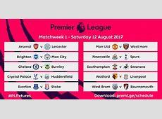 #PLFixtures English Premier League Releases 20172018