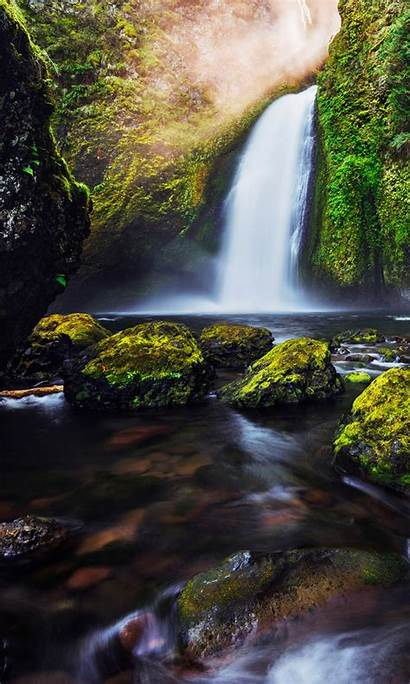 4k Waterfall Moss Wallpapers Iphone 1080 1920