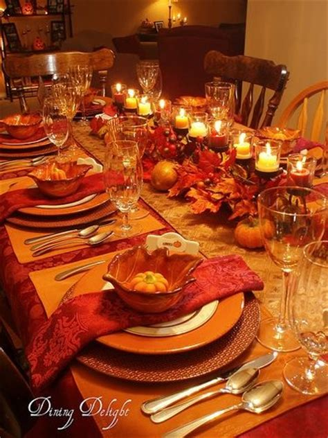 thanksgiving dinner table ideas inviting fall tablescapes