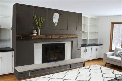 brick fireplace makeover 26 best images about remodeling fireplace surround on Modern