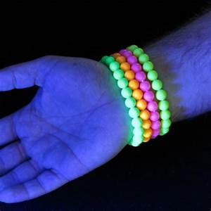 UV Reactive Neon Beaded Bracelets