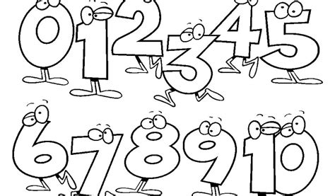 Numbers Coloring Pages For Preschool