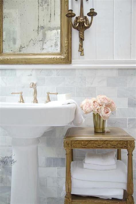 pedestal sink backsplash ideas  blend classic