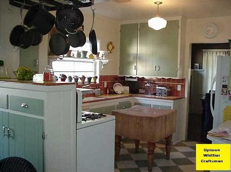 restored kitchen cabinets 1917 craftsman bungalow in whittier california 1917