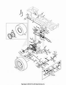 Mtd 14ak945k004  2011  Parts Diagram For Drive  U0026 Rear Wheels