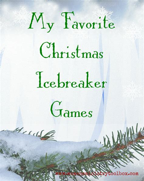 adult ice breaker christmas my favorite icebreaker s ministry toolbox