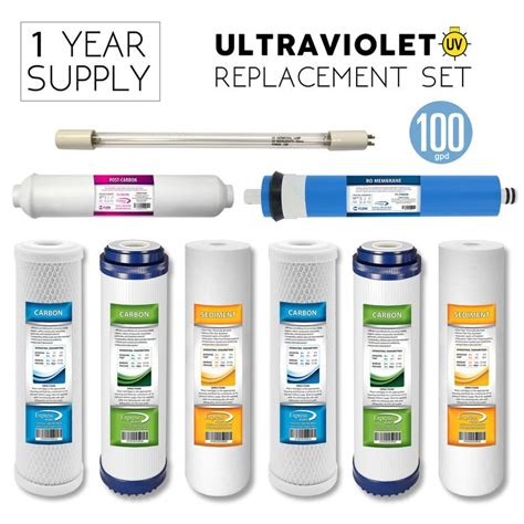 express water uv replacement bulb and ro filter set 9
