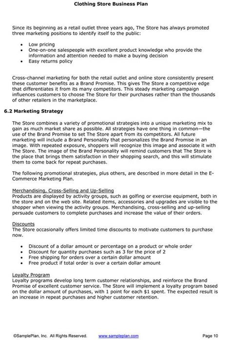boutique business plan business plan template business