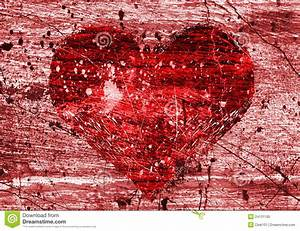 Grunge Background With Heart Royalty Free Stock Photo ...