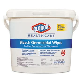 Hesco Inc. Clorox® Healthcare® Bleach Germicidal Wipes 110