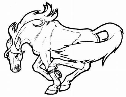 Coloring Horses Pages Wild Horse Cartoon Printable