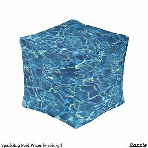 Sparkling Pool Water Pouf | Water, Cubes and Pool water