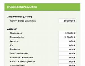 Stundensatz Berechnen Handwerk : sch n kalkulation vorlage bilder beispiel wiederaufnahme ~ Themetempest.com Abrechnung