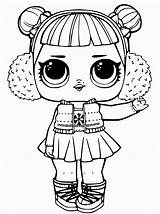 Coloring Lol Doll Dolls Surprise Popular sketch template
