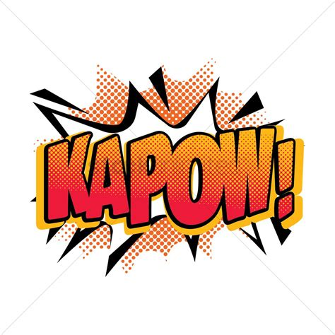 Comic effect kapow Vector Image - 1607276   StockUnlimited
