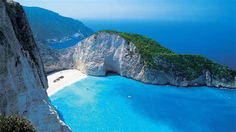 Shipwreck Beach Zakynthos Greece Wallpaper Beach