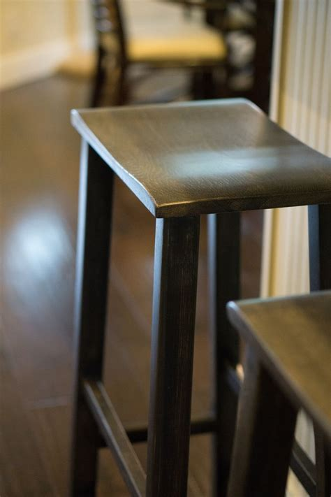 Buy a Hand Crafted Saddle Seat Bar Stool, made to order