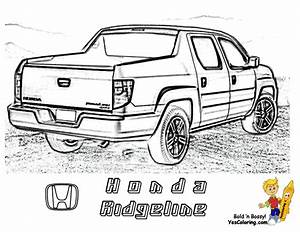 big boss truck coloring pictures foreign pickup trucks With honda ridgeline car
