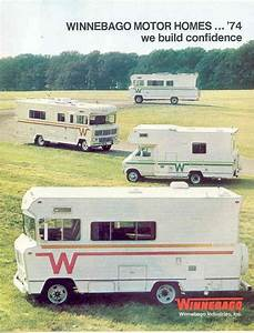 1974 Winnebago Dodge Motorhome Rv Brochure R2132