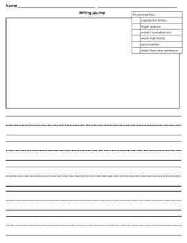 Creative Writing Journal Template By Mrs J S Teachers