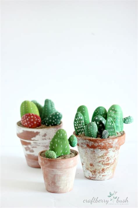 valentines day gift ideas for painted rock cactus diy crafts