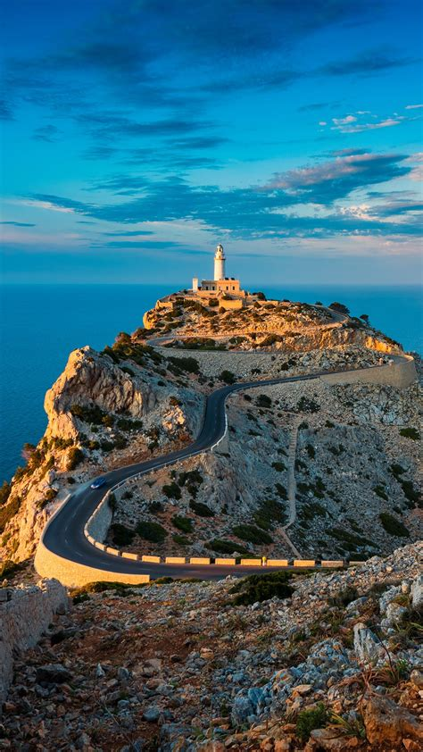 Lighthouse Of Cap De Formentor Around Sunset Mallorca
