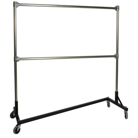 heavy duty rolling clothes rack 5ft rail