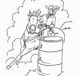 Coloring Barrel Racing Pages Printable Popular sketch template