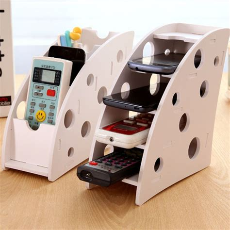 diy phone stand for desk diy wooden desk remote controller storage box tv dvd vcr